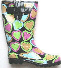 Retail ladies funky fashion Wellingtons boots, GY footwear retailer, 肯